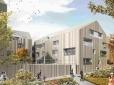 Représentation graphique vue du jardin - réalisée par Barrabe - architecte Philippe Dubus